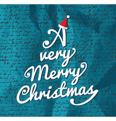 Merry Christmas tree composition vector image