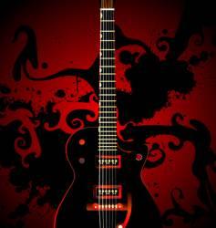 Modern guitar vector