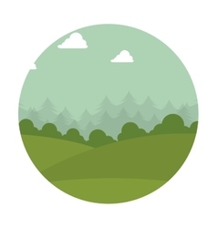 Mountain emblem isolated icon vector