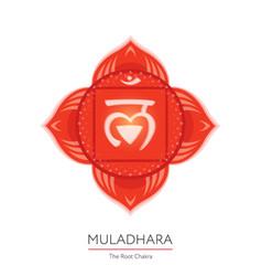 muladhara - chakra icon vector image