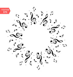 music score note decoration of musical notes in vector image