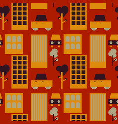 Neghborhood streets seamless pattern vector