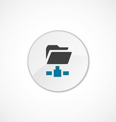 net folder icon 2 colored vector image