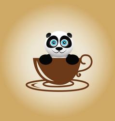 Panda logo coffee vector