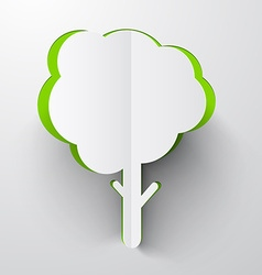 Paper Cut Tree vector