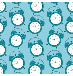 pattern clock alarm time wake up symbol vector image