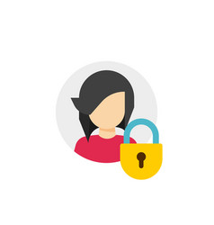 Personal account private protection or locked vector