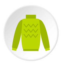 pullover icon circle vector image