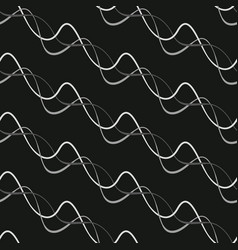 seamless background of interlacing lines vector image