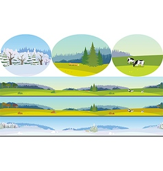 Seamless Long Landscape vector