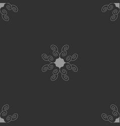 Seamless pattern with spirals vector