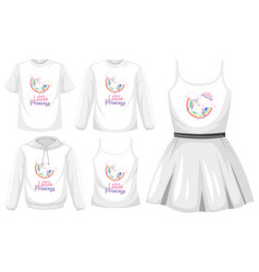set girl outfits vector image