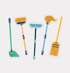 set house cleaning tools vector image