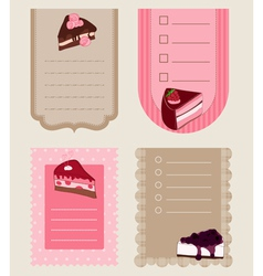 set of cake tags - for design and scrapbook vector image