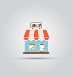 Shop isolated colored icon vector