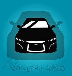 silhouette of the car vector image