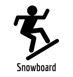 Snowboard icon simple style vector