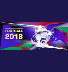Soccer and football digital web banner and poster vector