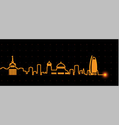 Sofia light streak skyline vector