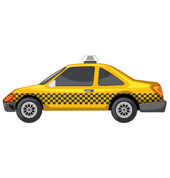 taxi in yellow color on white background vector image