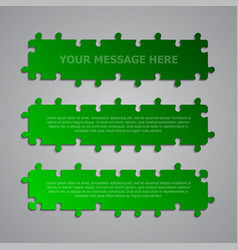 The puzzle banner signboard plate store board vector