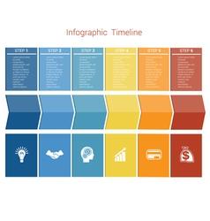 Timeline 6 options vector