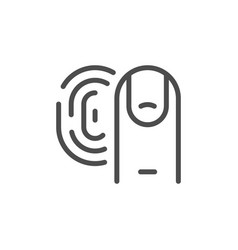 touch id line outline icon vector image