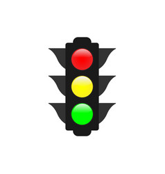 traffic lights graphic design element vector image