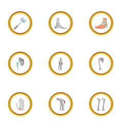 Traumatology and orthopedic icons set cartoon vector