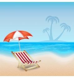Tropical sea and beach vector