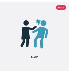 Two color slap icon from people concept isolated vector
