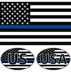 Usa flag blue stripe vector
