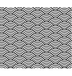 wave pattern black and white chinese seamless vector image