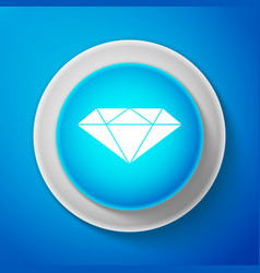 white diamond sign jewelry symbol vector image