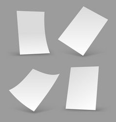 white paper sheets a4 blank brochure realistic vector image