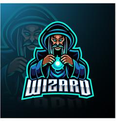 Wizard esport mascot logo design vector