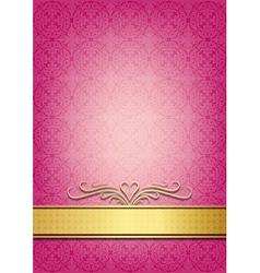 Abstract pink invitation vector