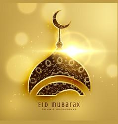 beautiful mosque design for islamic eid festival vector image vector image