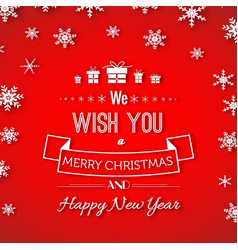 christmas and new year greeting poster vector image vector image