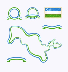 Colors of Uzbekistan vector image