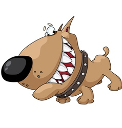 dog smile vector image