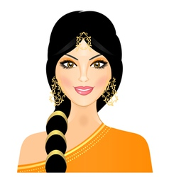 eastern woman in orange vector image vector image