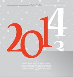 happy new year silver 2014 vector image vector image