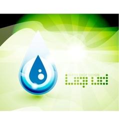 Natural water drop concept vector image
