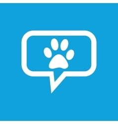 Paw message icon vector