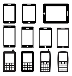 Set of mobile phones and tablets eps 10 vector