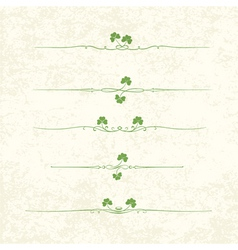 st patrick design elements vector image