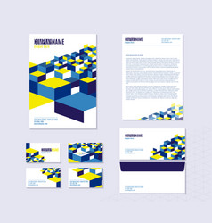 stationery with sheet vector image