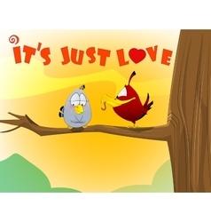 sweet love birds vector image