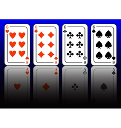 aces and sixes vector image vector image
